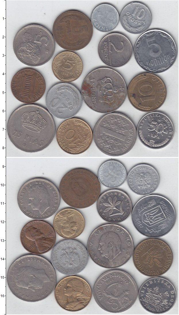 Изображение Лоты монет для начинающих нумизматов Монеты стран мира Лот №01279 0