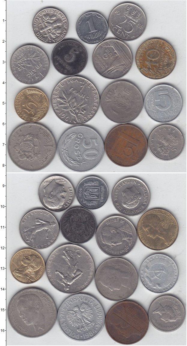 Изображение Лоты монет для начинающих нумизматов Монеты стран мира Лот №01284 0