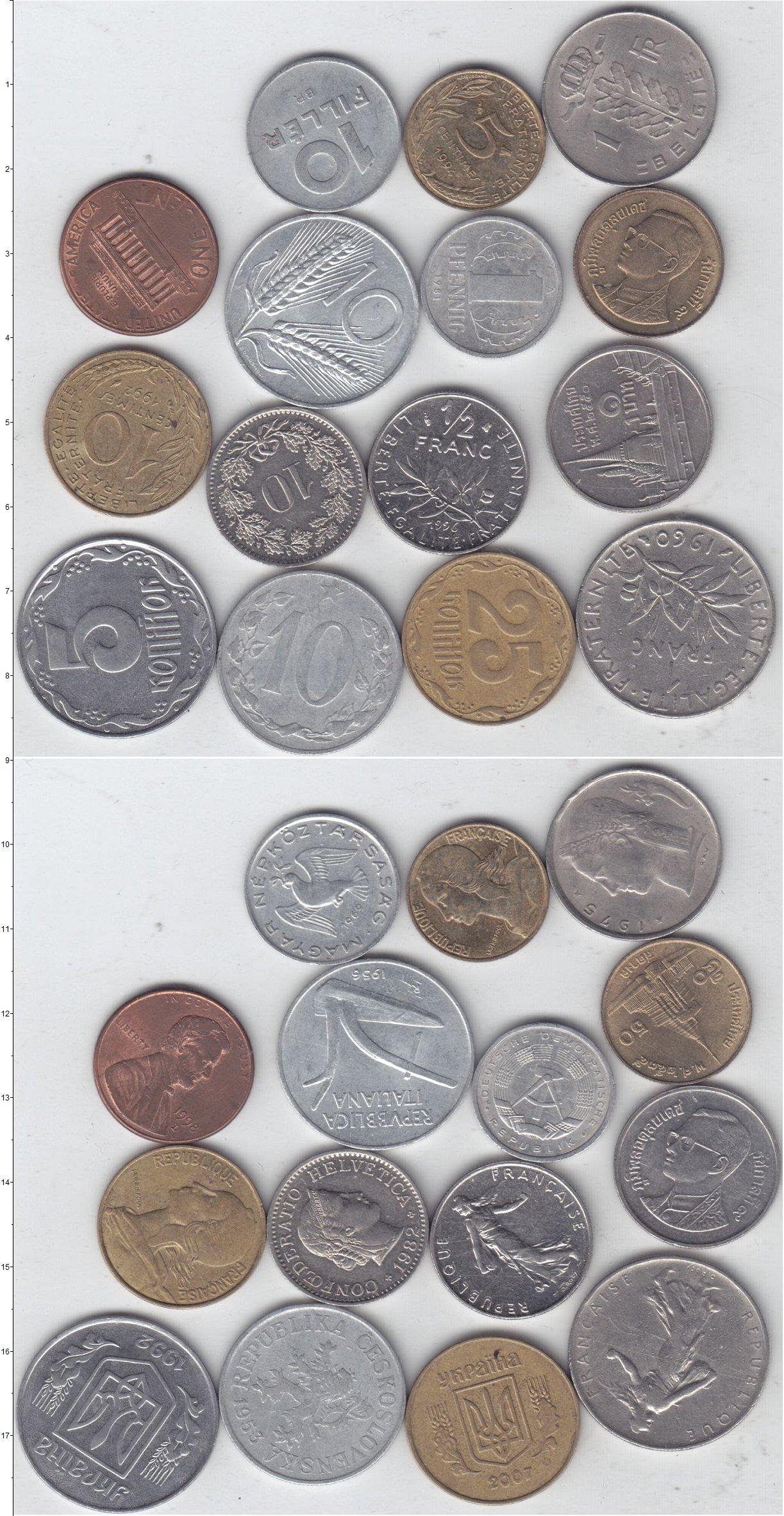 Картинка Лоты монет для начинающих нумизматов Монеты стран мира Лот №01291  0