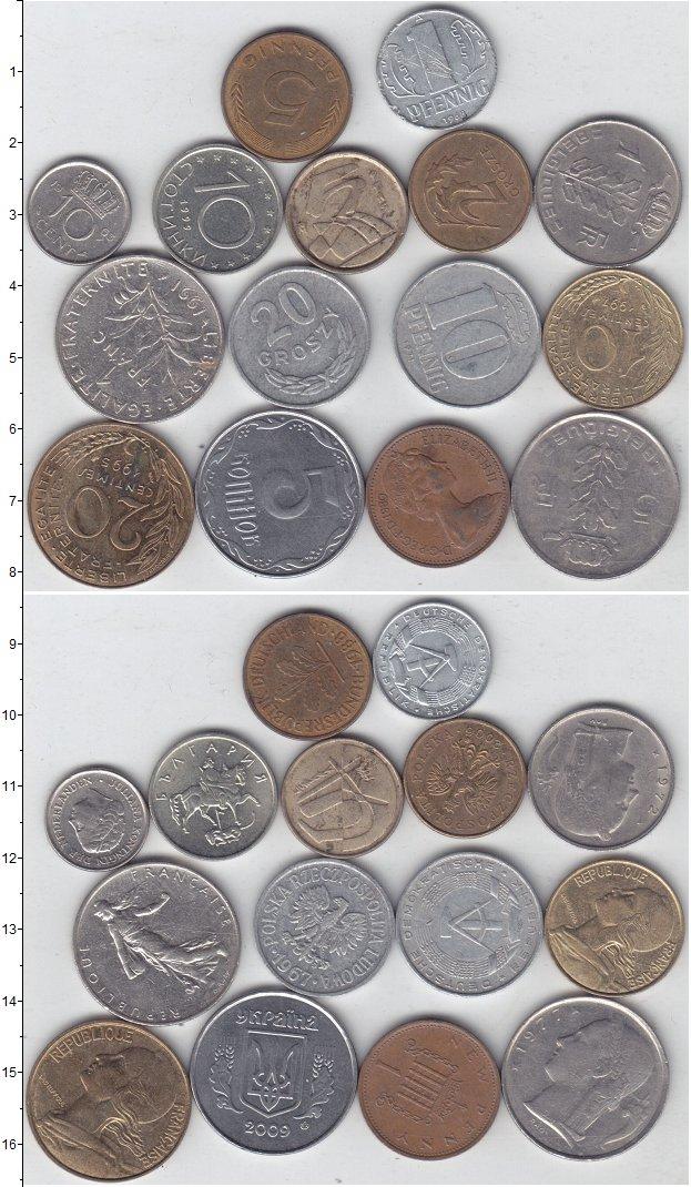 Изображение Лоты монет для начинающих нумизматов Монеты стран мира Лот №01295 0