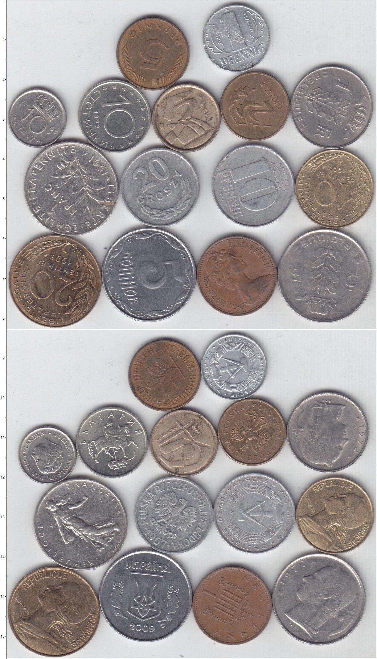 Картинка Лоты монет для начинающих нумизматов Монеты стран мира Лот №01295  0