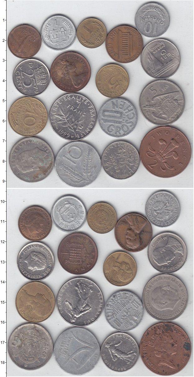Изображение Лоты монет для начинающих нумизматов Монеты стран мира Лот №01297 0