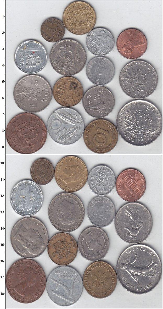 Изображение Лоты монет для начинающих нумизматов Монеты стран мира Лот №01298 0