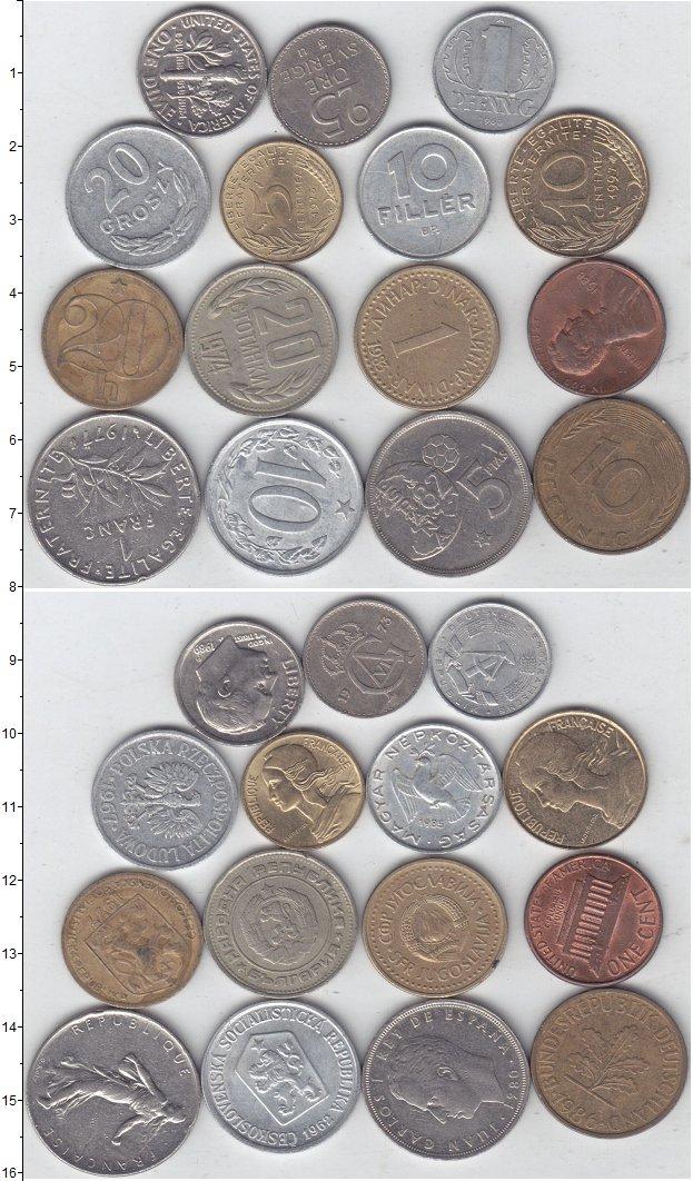 Изображение Лоты монет для начинающих нумизматов Монеты стран мира Лот №01299 0
