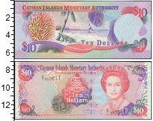 Изображение Банкноты Каймановы острова 10 долларов 0  XF
