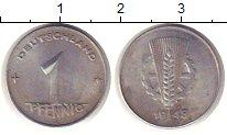 Изображение Монеты ГДР 1 пфенниг 1948 Алюминий XF Первый герб республи