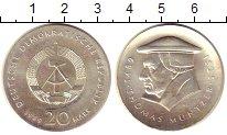 Изображение Монеты ГДР 20 марок 1989 Серебро UNC-
