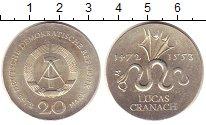 Изображение Монеты ГДР 20 марок 1972 Серебро UNC- 500 - летие  Луки  Г