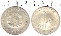Изображение Монеты ГДР 20 марок 1977 Серебро UNC-