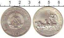 Изображение Монеты ГДР 10 марок 1989 Серебро UNC-