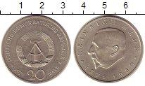 Изображение Монеты ГДР 20 марок 1971 Медно-никель XF Генрих  Манн.