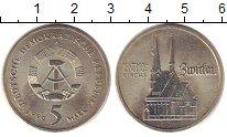 Монета ГДР 5 марок Медно-никель 1989 UNC-