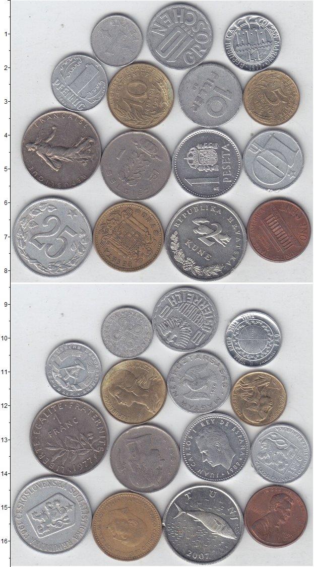 Изображение Лоты монет для начинающих нумизматов Монеты стран мира Лот №01300 0