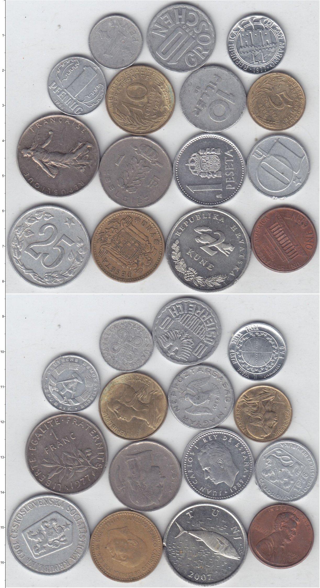 Картинка Лоты монет для начинающих нумизматов Монеты стран мира Лот №01300  0