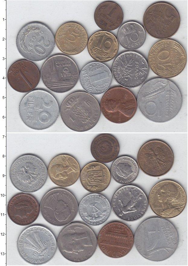 Изображение Лоты монет для начинающих нумизматов Монеты стран мира Лот №01301 0