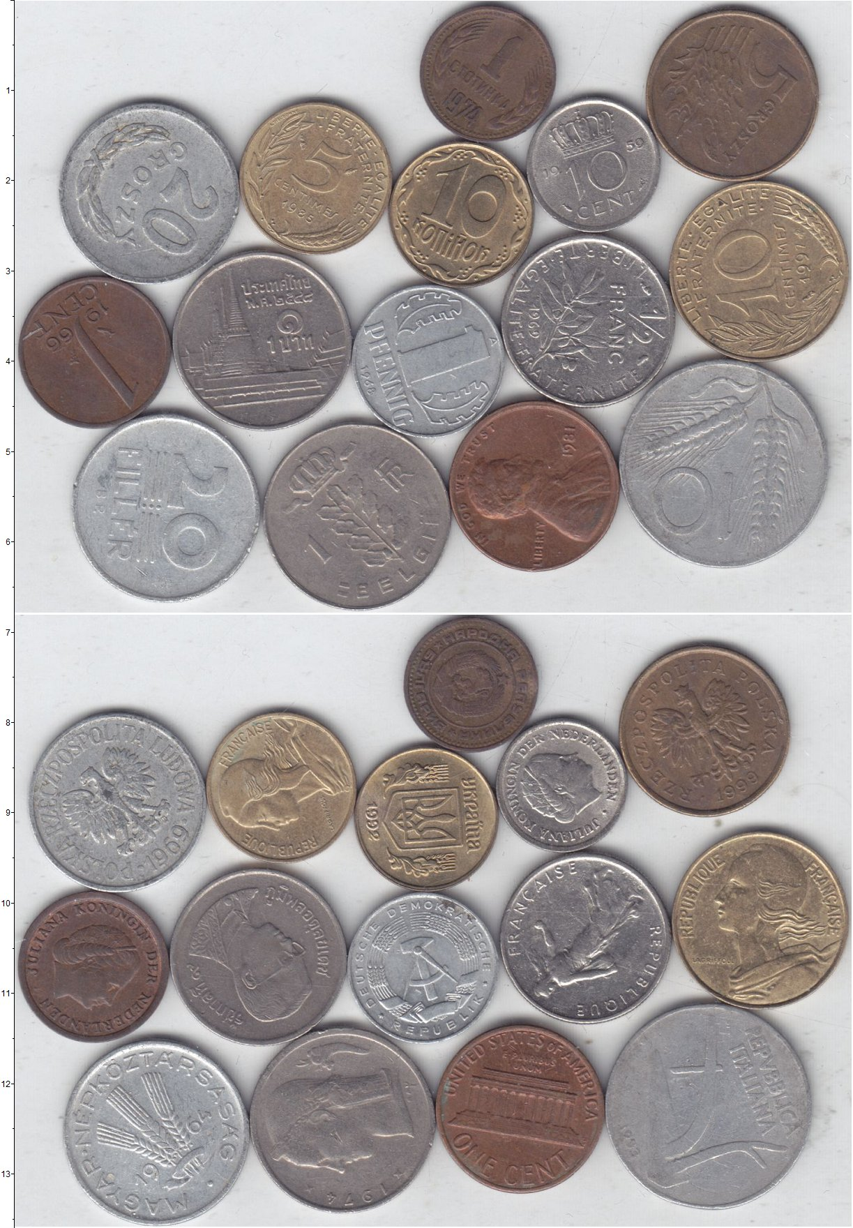Картинка Лоты монет для начинающих нумизматов Монеты стран мира Лот №01301  0