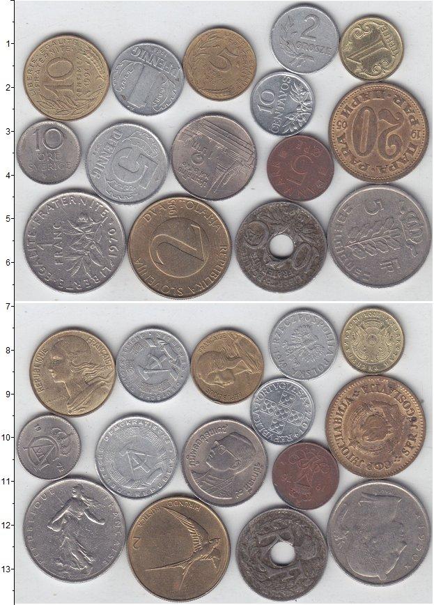 Изображение Лоты монет для начинающих нумизматов Монеты стран мира Лот №01302 0