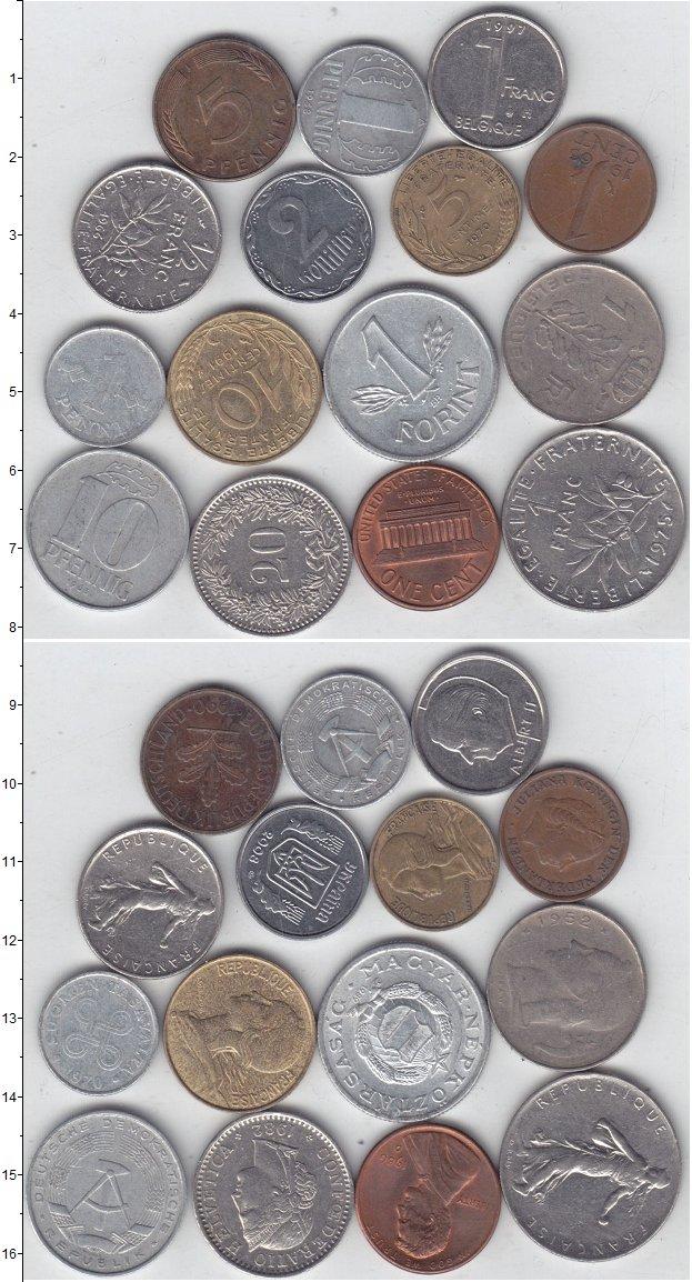 Изображение Лоты монет для начинающих нумизматов Монеты стран мира Лот №01303 0