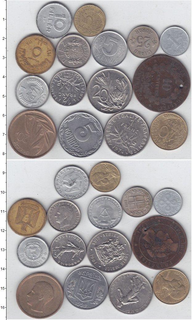 Изображение Лоты монет для начинающих нумизматов Монеты стран мира Лот №01310 0