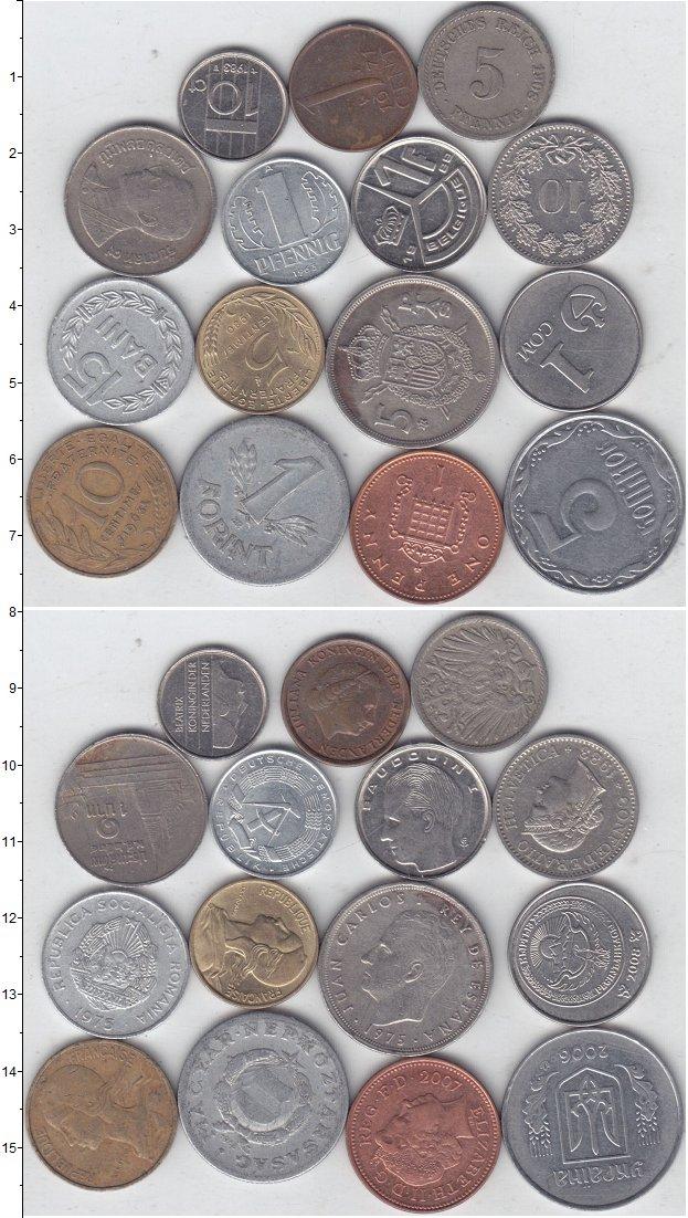 Изображение Лоты монет для начинающих нумизматов Монеты стран мира Лот №01311 0