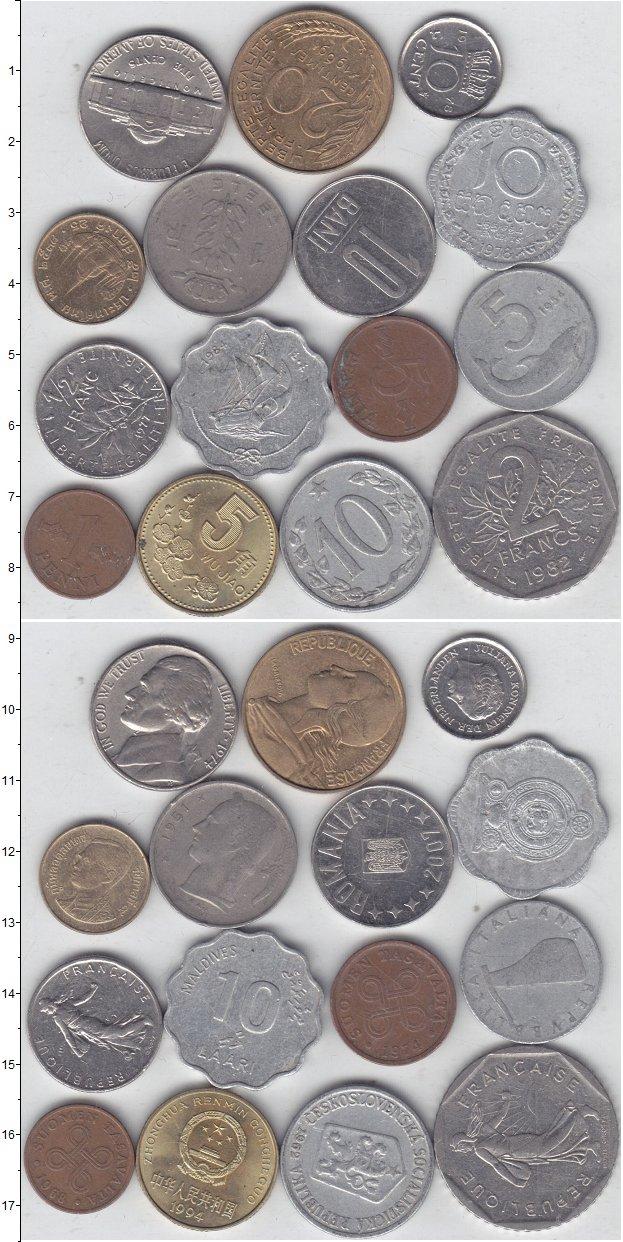 Изображение Лоты монет для начинающих нумизматов Монеты стран мира Лот №01315 0