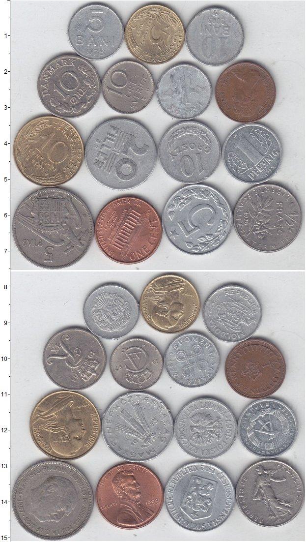 Изображение Лоты монет для начинающих нумизматов Монеты стран мира Лот №01316 0