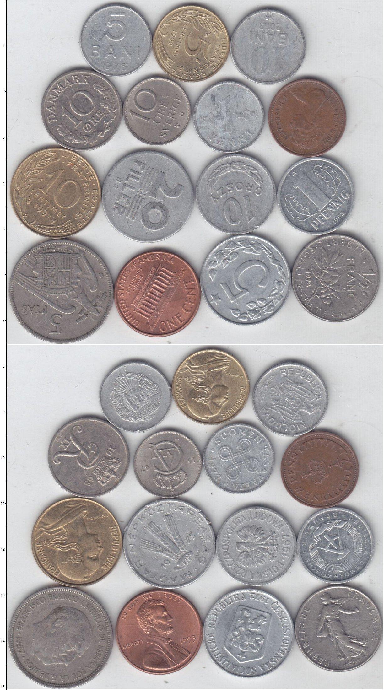 Картинка Лоты монет для начинающих нумизматов Монеты стран мира Лот №01316  0