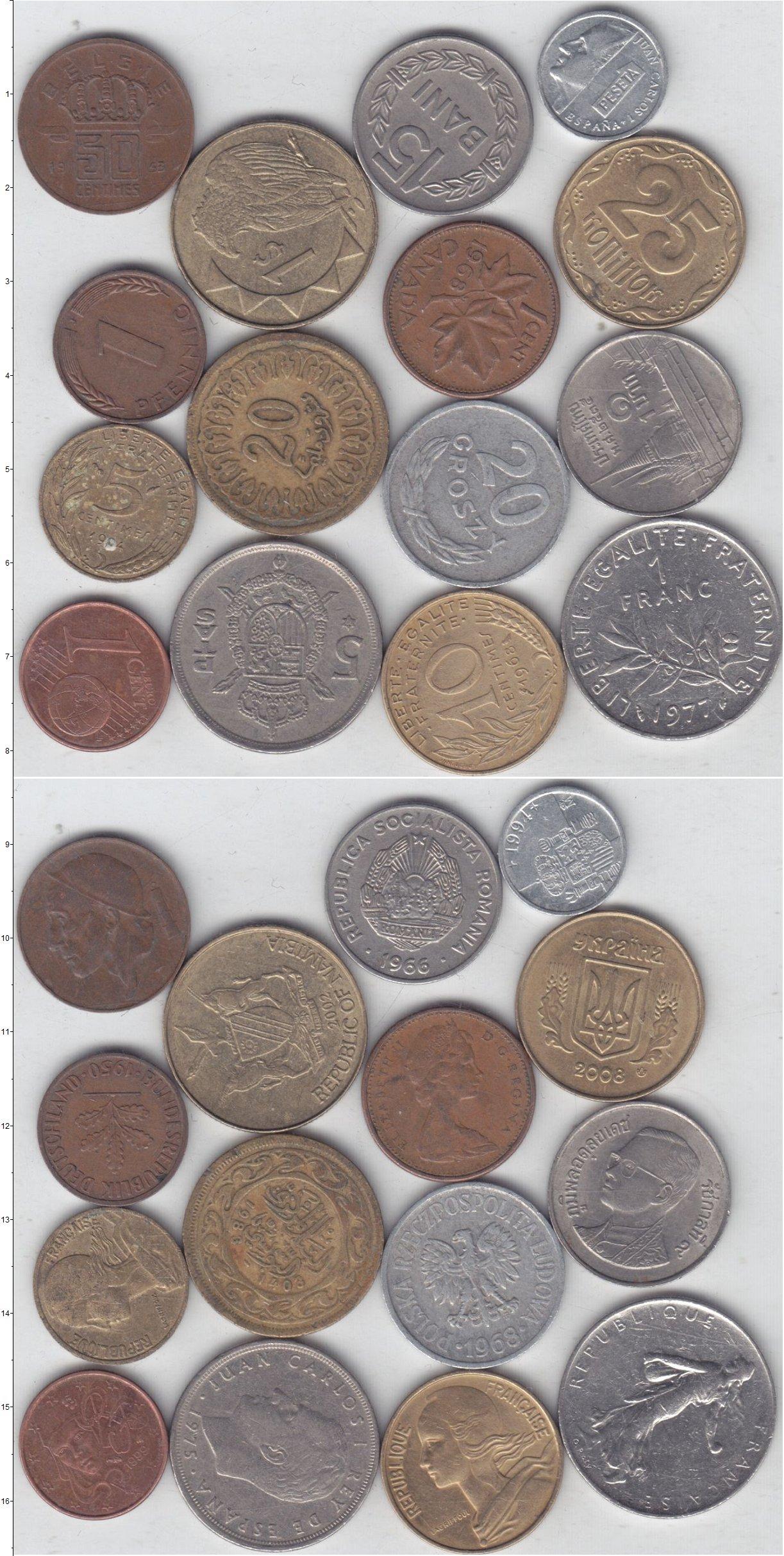 Картинка Лоты монет для начинающих нумизматов Монеты стран мира Лот №01321  0
