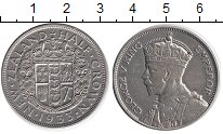 Изображение Монеты Новая Зеландия 1/2 кроны 1933 Серебро XF- Георг V
