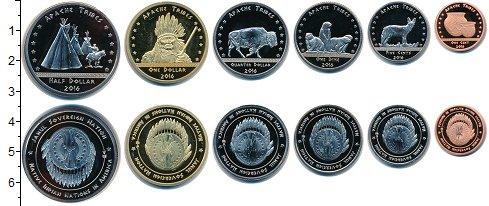 Изображение Наборы монет Резервация Хамул Индейцы Резервация Хамул Индейцы 2016 2016  UNC Апачи. В наборе 6 мо