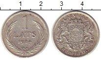 Изображение Монеты Латвия 1 лат 1924 Серебро XF Первая республика