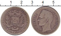 Изображение Монеты Венесуэла 1 боливар 1930 Серебро VF Боливар - Освободите