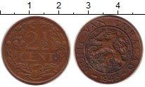Изображение Монеты Кюрасао 2 1/2 цента 1948 Бронза XF
