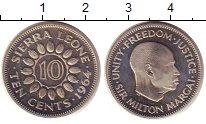 Изображение Монеты Сьерра-Леоне 10 центов 1964 Медно-никель Proof-