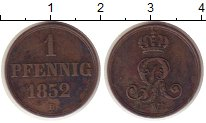 Изображение Монеты Ганновер 1 пфенниг 1852 Медь XF-