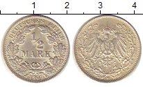 Изображение Монеты Германия 1/2 марки 1909 Серебро UNC-