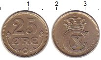 Изображение Монеты Дания 25 эре 1922 Медно-никель XF