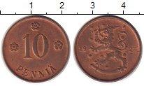 Изображение Монеты Финляндия 10 пенни 1923 Бронза UNC-
