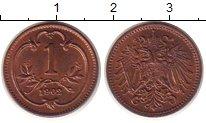 Изображение Монеты Австрия 1 геллер 1902 Бронза XF