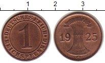 Изображение Монеты Веймарская республика 1 пфенниг 1925 Медь XF G