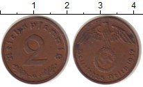 Изображение Монеты Третий Рейх 2 пфеннига 1937 Бронза XF G