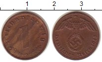 Изображение Монеты Третий Рейх 1 пфенниг 1940 Бронза XF G