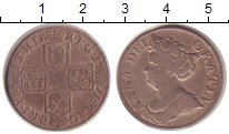 Изображение Монеты Великобритания 1 шиллинг 1711 Серебро VF 4 герба, сложенные в