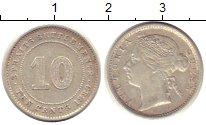 Изображение Монеты Стрейтс-Сеттльмент 10 центов 1889 Серебро XF