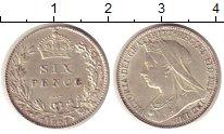 Изображение Монеты Великобритания 6 пенсов 1897 Серебро UNC-
