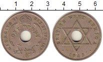 Изображение Монеты Западная Африка 1 пенни 1943 Медно-никель XF