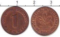 Изображение Монеты Германия ФРГ 1 пфенниг 1966 Медь VF