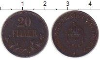 Изображение Монеты Венгрия 20 филлеров 1894 Железо VF