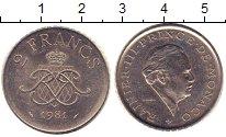 Изображение Монеты Монако 2 франка 1981 Медно-никель XF