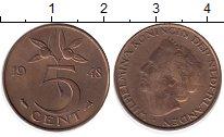 Изображение Монеты Нидерланды 5 центов 1948 Бронза XF
